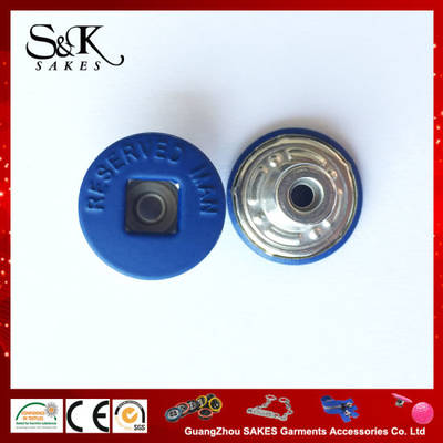 Customised Rubber Coated Square Middle Hole Shank Button for Clothes