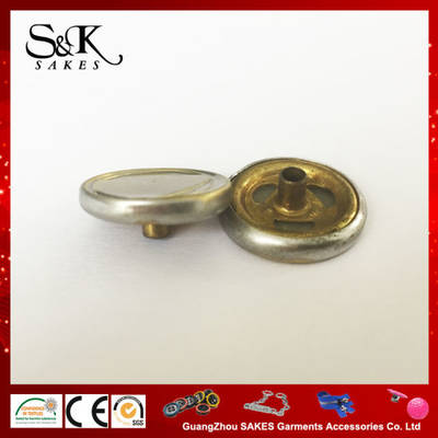 Heart Shape Logo Metal Brass Snap Button for Garments pictures & photos