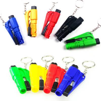 Emergency 3 in 1 Tool Keychain Car Safety Whistle Glass Breaker Seat Belt Cutter