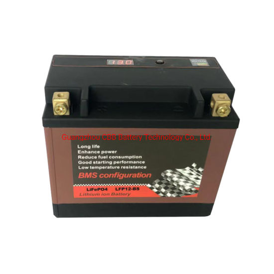 Deep Cycle Motorcycle LFP12-BS 12.8V Rechargeable LiFePO4 Motorcycle Battery