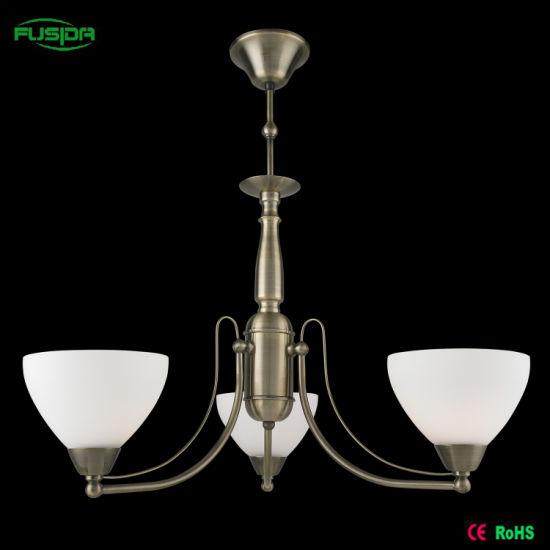 European Iron Glass Pendant Lighting for Home