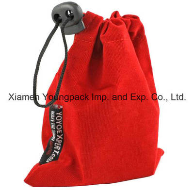 Fashion Personalized Red Velvet Fabric Packing Gift Bag