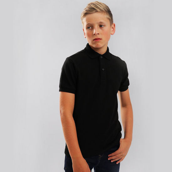 Moisture Wicking Children′s Cotton Polo Shirt with Custom Logo pictures & photos
