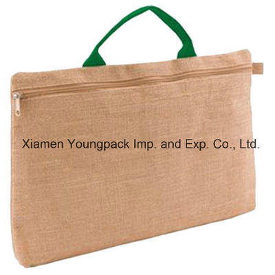 Promotional Document Bag Custom Printed Burlap Jute Conference Cases