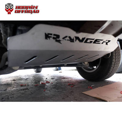 Skid Plate Guard Steel Color Silver for Ranger 2012 2018