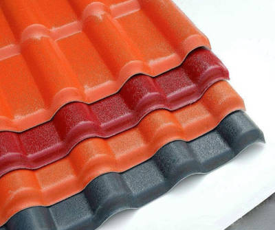 Anti-Corrosive ASA Surfaced Synthetic Resin Plastic PVC Roof Tiles