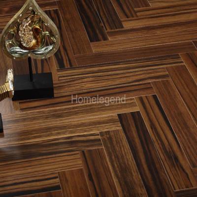 Brown Color Ebony Herringbone Parquet Wood Flooring/Engineered Wood Flooring