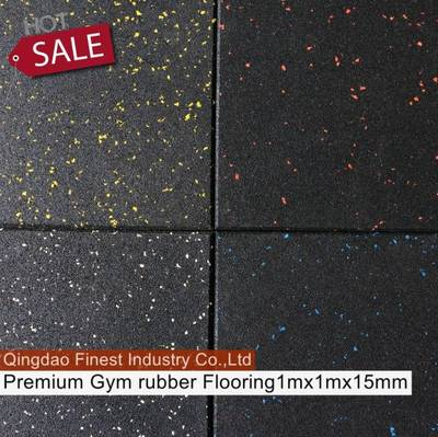 China Premium Crossfit Rubber Flooring Tile Gym Rubber Flooring