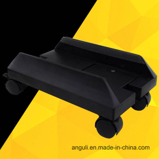 Plastic Adjustable Computer Accessories CPU Caster Holder Stand