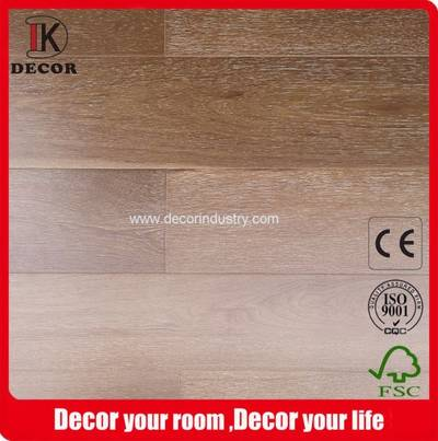 Russian Oak Natural White Washed Brushed Wood Flooring