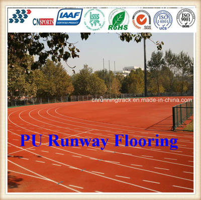 Eco-Friendly Synthetic PU Running Track with Iaaf Certificate