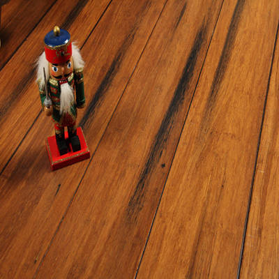 Strand Woven Bamboo Flooring Painted