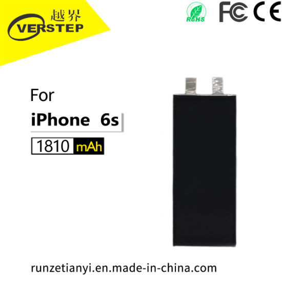 High Quality Mobile Phone Battery of Materials, for iPhone 6s, 303996, 1810mAh, Factory Custom Acces