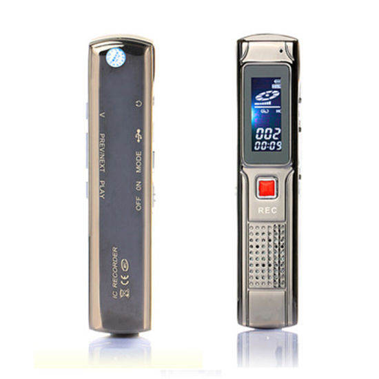 8 GB Digital Voice Recorder Voice Recorder with MP3 Player LCD Display for Lesso