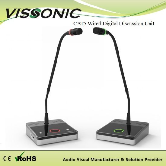 Vissonic Digital Conference System Microphone Cat5 Wired Basic Discussion Chairman/Delegate Unit