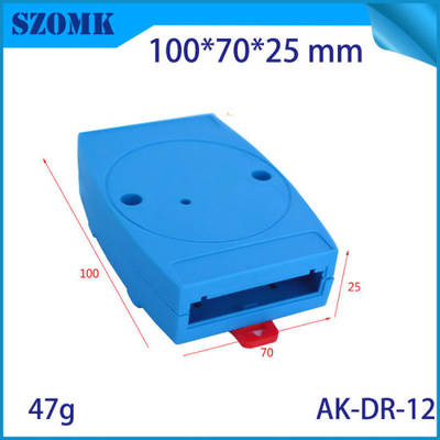 Blue Color Electronics Rail Enclosures for PCB Design Case