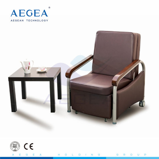 Medical Patient Room Accompany Metal Folding Chair Bed