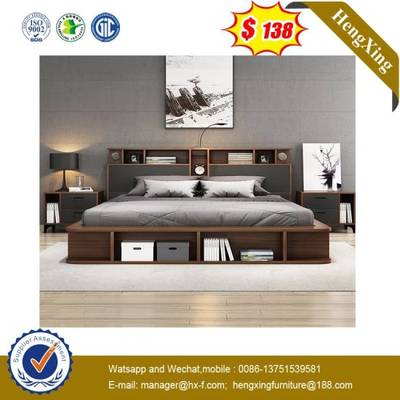 Modern King Size Double Bed Mdf Wooden Home Hotel Bedroom