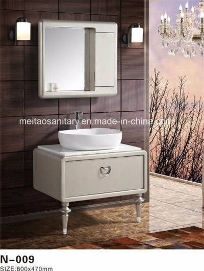 Modern Sanitary Ware Pvc Bathroom Mirror Cabinet With Floor Standing