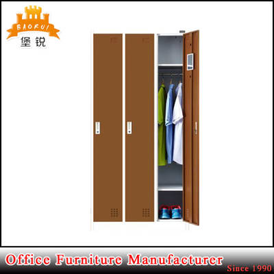 Strong Metal 3-Door Clothes Locker with ISO Certificate