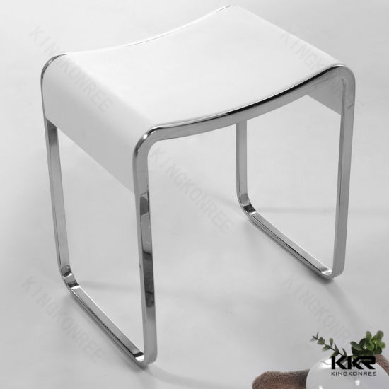 Wholesale Solid Surface Stone Bathroom Accessories Shower Stool