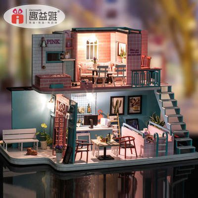 2019 New Design Miniature Wooden Doll House Furniture/Wooden Doll / Music Box/Kids Furniture for Chi