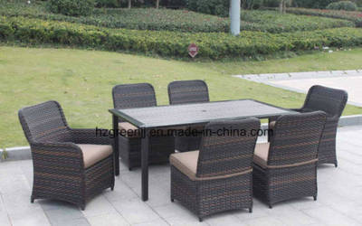 Wicker Furniture Outdoor Dining Table Set With Rattan Chair 0051 10mm Half Moon Curve Flat Wicker An Bleachers From China On Topchinasupplier Com