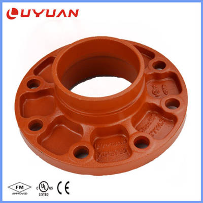 Ductile Iron Grooved Pipe Fittings Grooved Flange Adaptor for Fire System