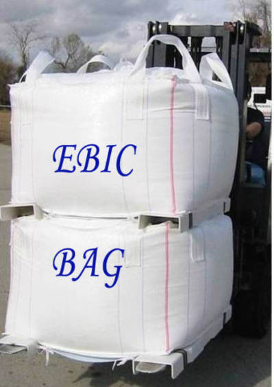 FIBC Jumbo Big Bag with Tubular Body Cross Corner Loops