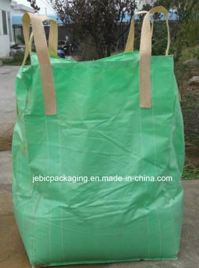 Green Fabric Cross Corner FIBC Bulk Bag