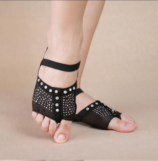 Factory Foot Undies Half Lyrical Shoes Belly Dance Diamond Forefoot Protector