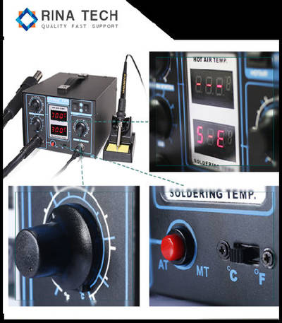 Hot Air Soldering Reword Station with Desoldering Gun