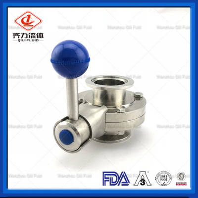 Sanitary SS304/316L 3A, DIN, SMS Welded, Clamped, Thread Butterfly Valve
