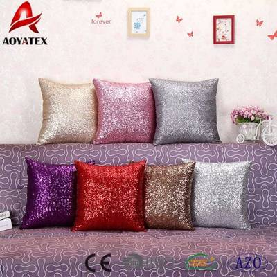 Hot Sale Custom Fashion Square Mermaid Sequin Cushion
