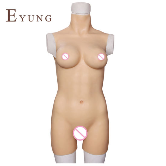Silicone Artificial Breast Forms for Crossdresser Transvesti Shemale Bodysuit Drag Queen Lady Boy Ti