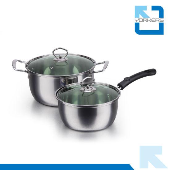 410 Stainless Steel Cheap Cooking Pot Set Cookware Set