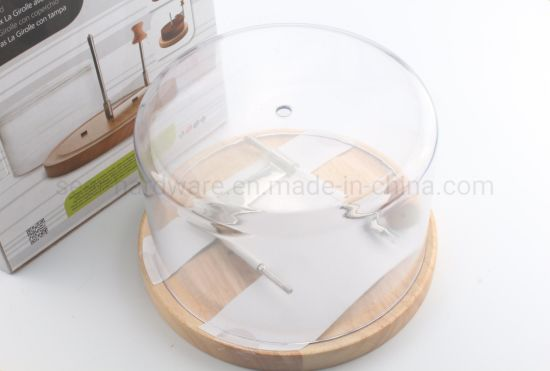 Cheese Cutting Board with Plastic Cover for Kitchen Appliance (SE1903)