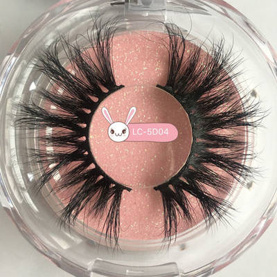 Fdshine Wholesale 5D Mink 25mm Lashes Pink Glitter Custom Box