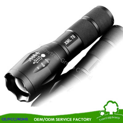 Flash Light Aluminum Alloy Portable LED Torch Flashlight with Gift Box