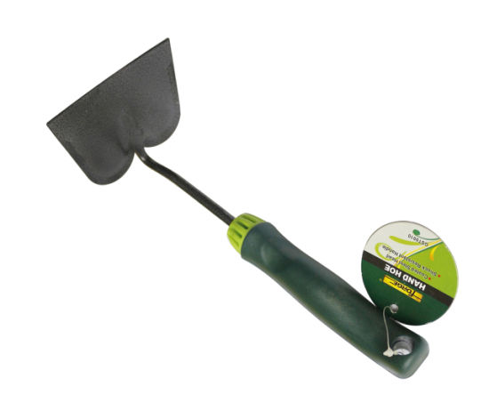High Quality Garden Tools Q235 Carbon Steel Flat Hand Hoe with Plastic Handle