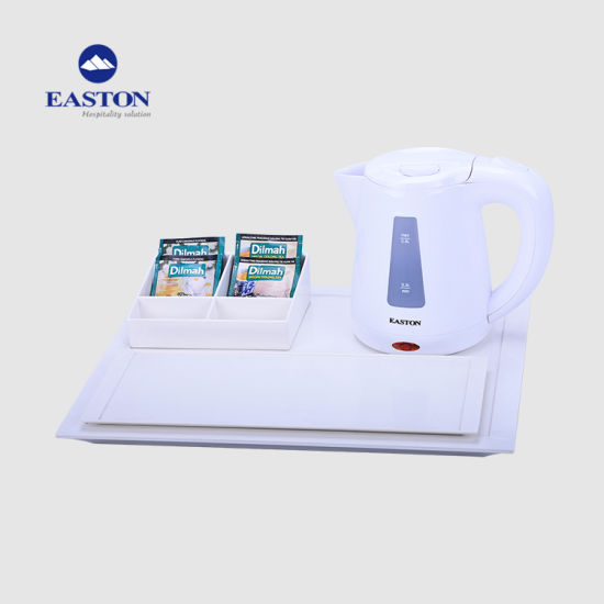 Hotel Electric Kettle Sets with Melamine Tray