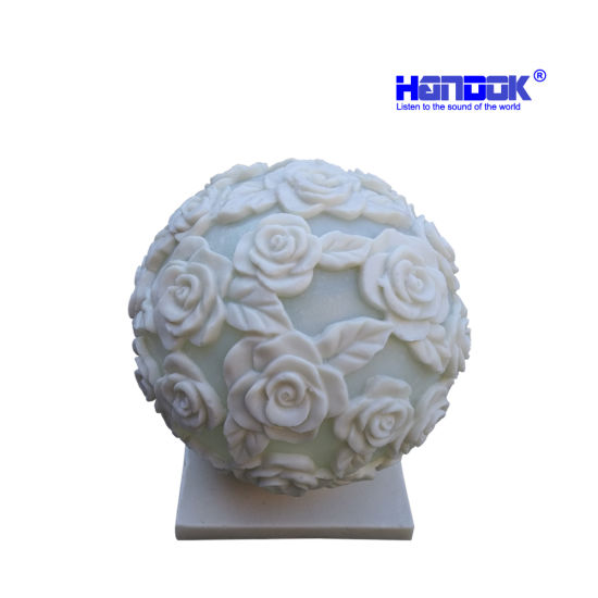 New Design Romantic Rose Colorful LED Decoration Garden Stone Light