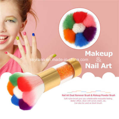 Nylon Soft Hair Golden Metal Handle Flower Nail Dust Brush pictures & photos