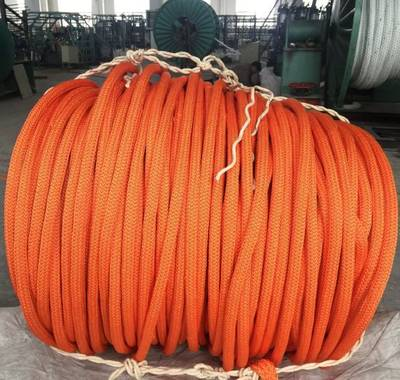 Polyester Cover 12 Strand Synthetic UHMWPE/Hmpe Nylon Marine Towing Rope for Mooring Offshore pictures & photos