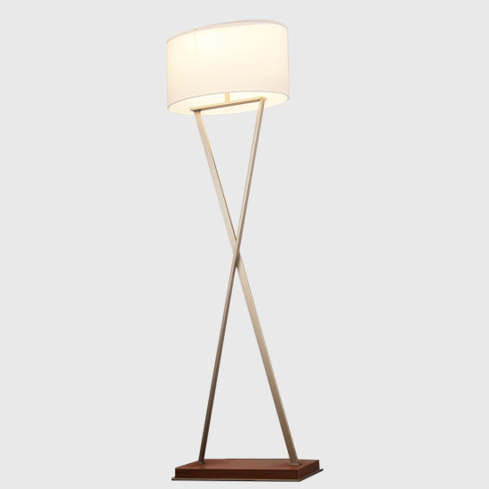 Rebecca Lighting Guestroom Lamp Standing Lamp with Walnut Wooden Base