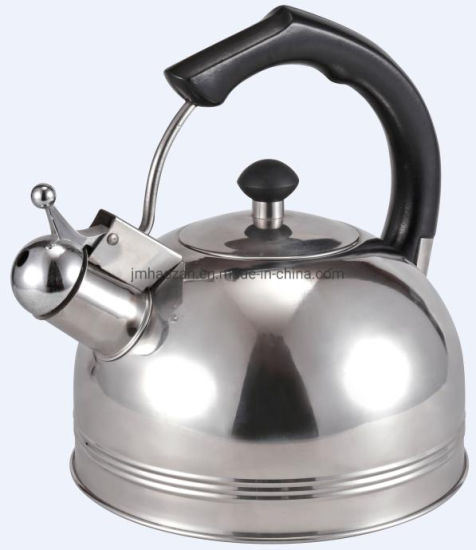 Stainless Steel Whistling Kettle with Ss Whistle and Fixed Handle