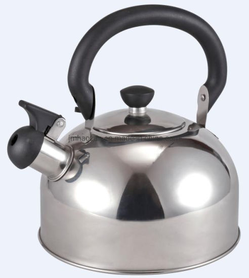 Steel Color Whistling Kettle with Single Bottom