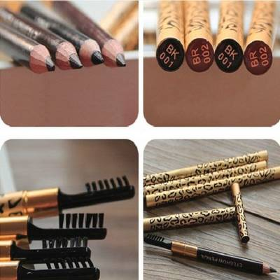 Women Eyebrow Pencil Waterproof Eye Brown Pencil with Brush Eyeliner Eye Liner
