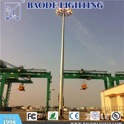 Airport Square Football Field Hot DIP Galvanized Q235 Steel Round Conical, Polygonal High Mast Light