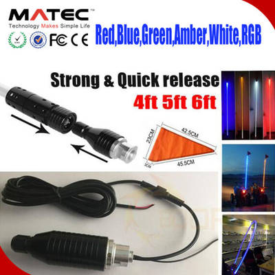 Fiber Optic LED Light Antenna LED Light 4/5/6FT